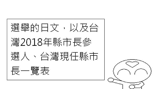選舉縣市長日文