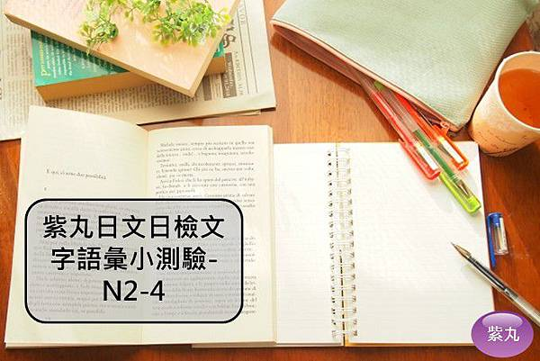 紫丸日文日檢文字語彙小測驗-N2-4封面