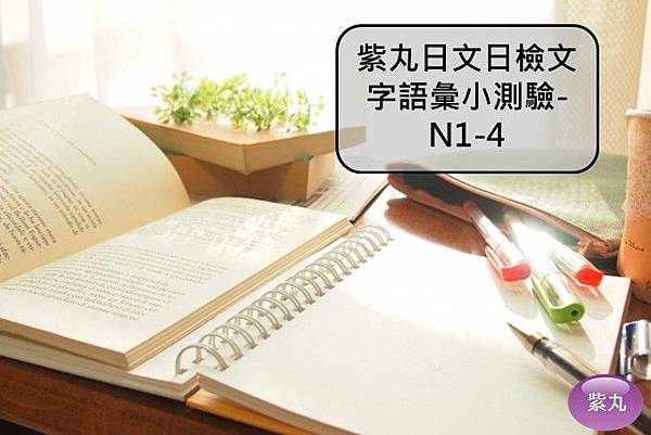 紫丸日文日檢文字語彙小測驗-N1-4封面