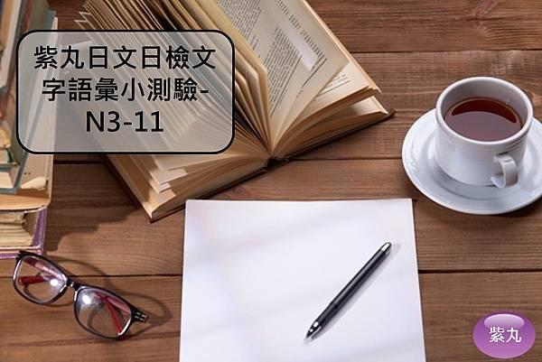 紫丸日文日檢文字語彙小測驗-N3-11封面