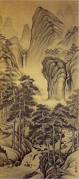 松壑飛泉by郭雪湖