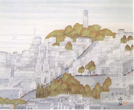 霜朝(舊金山)by郭雪湖