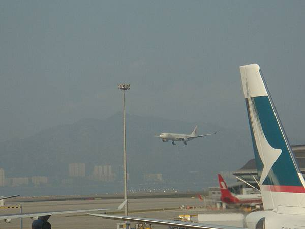 the HK airport