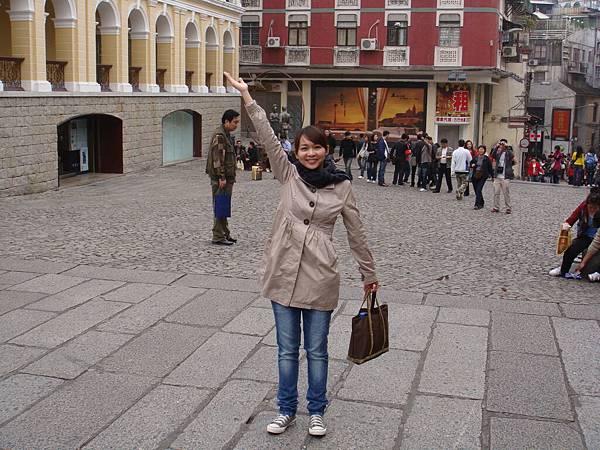 Erin in Macau   大三巴牌坊
