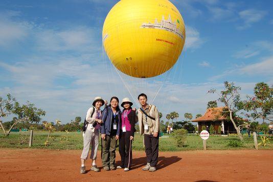 乘坐熱氣球