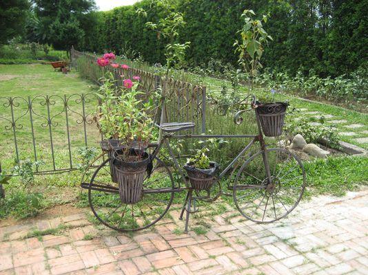 單車造型花座