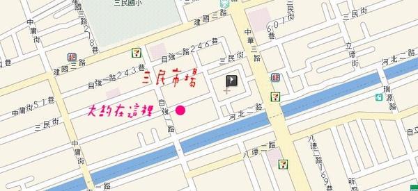 三民市場地圖