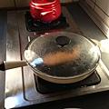 煎鮭魚+三菇雞湯