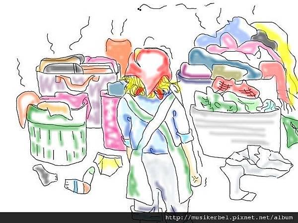黯淡洗衣婦