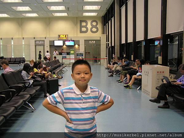 登機門前面的候機室