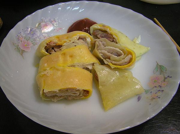 990818早餐鮮肉蛋餅