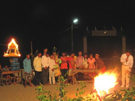 晚上的營火晚會