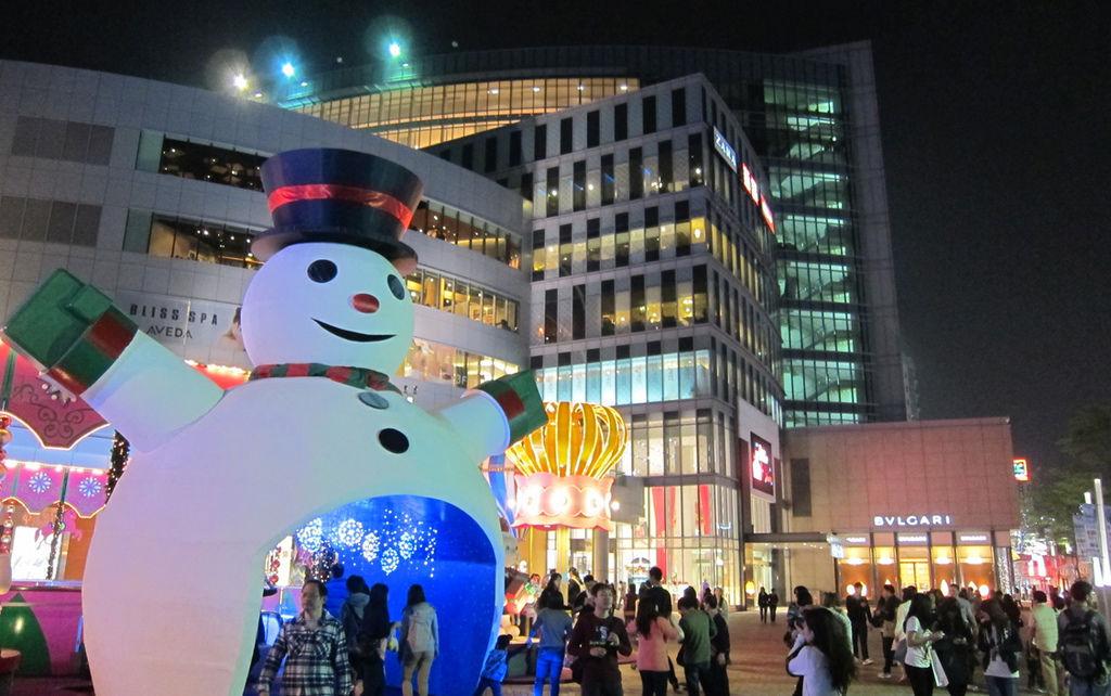 聖誕過後的雪人