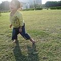 跑了一個下午的我,在陽光下感覺很暢快