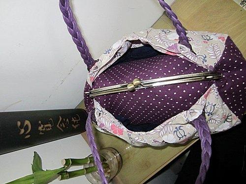 紫色戀曲口金手提包(26.5公分)-02