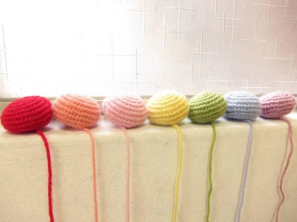 斑馬毛線-蘑菇頭彩虹