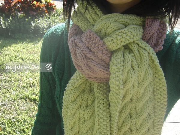 雙面麻花圍巾*好厚實的感覺