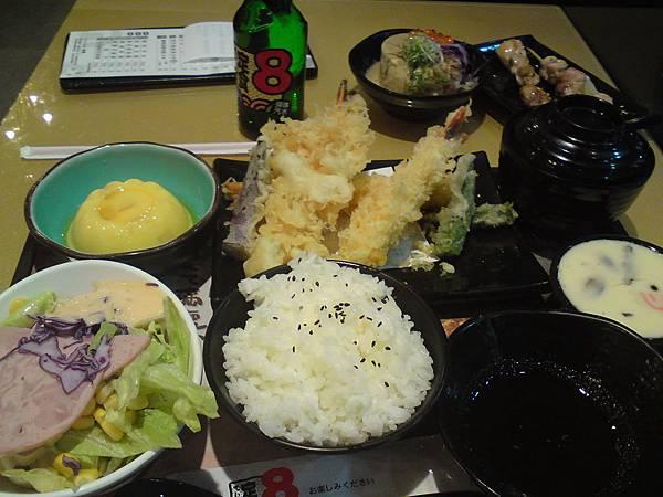定食八-炸蝦餐.JPG