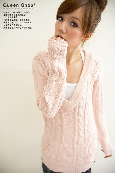 粉紅毛上衣