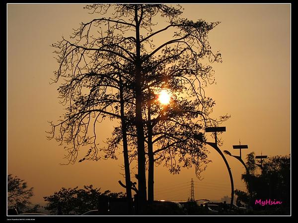 蘭潭的夕陽