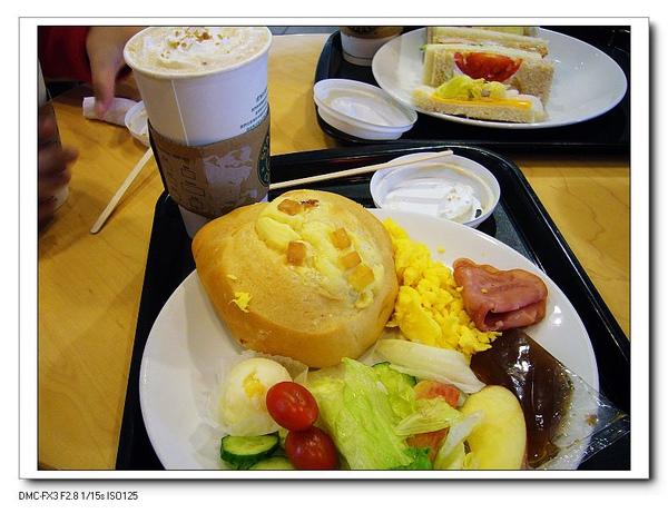 Starbucks吃早餐~