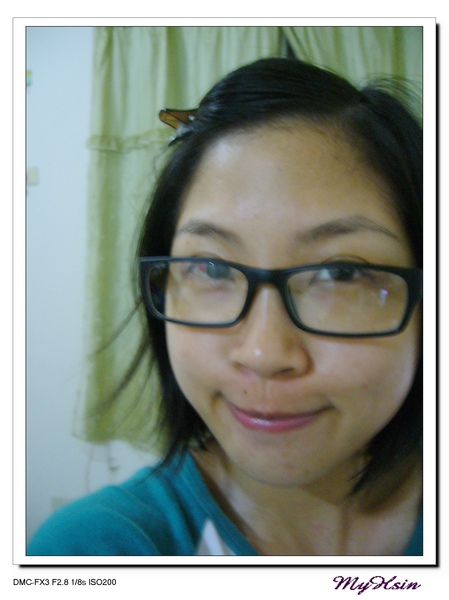 戴黑框眼鏡好有趣。