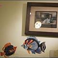 牆壁上的手繪圖案,好有海洋風情