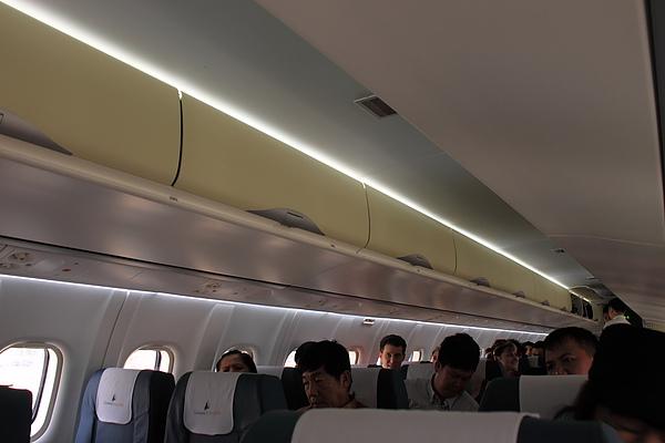 狹小的機艙