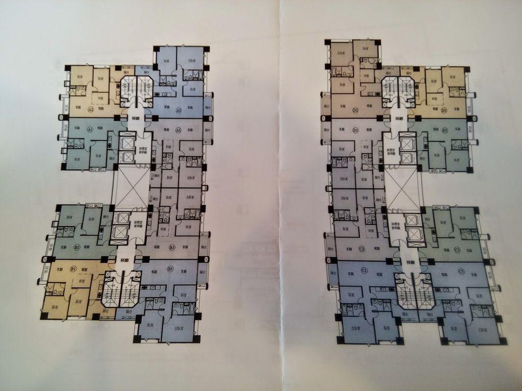 內側兩邊都是3房或4房的,外側面東方文華、面慈雲路則是2房或2+1房的.jpg