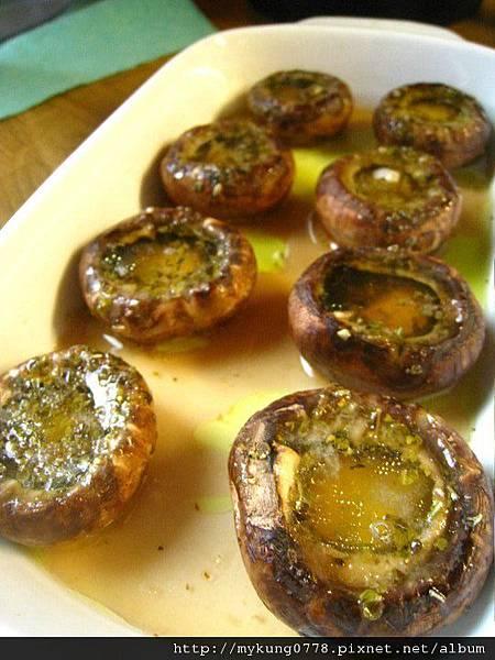 德國家庭菜--烤磨菇