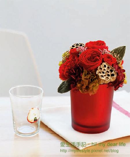 玫瑰餐桌花