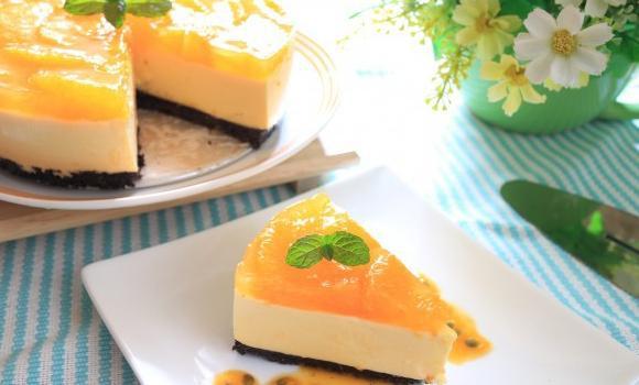 免烤百香起司慕斯蛋糕製作超簡單