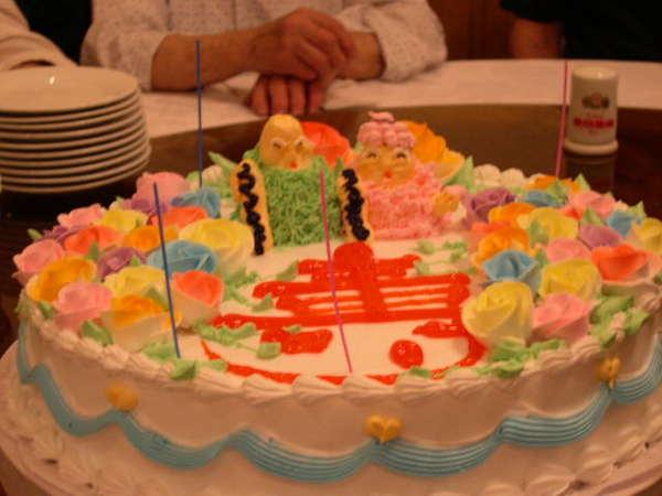 當地的生日蛋糕