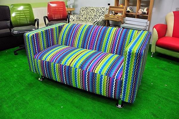 高級布料2人沙發001.JPG