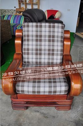 嘉義木椅座墊訂製002