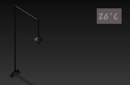 26度C LOFT工業風-水管立燈02