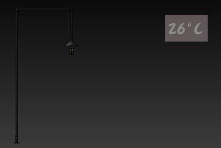 26度C LOFT工業風-水管立燈01