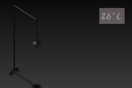 26度C LOFT工業風-水管立燈04