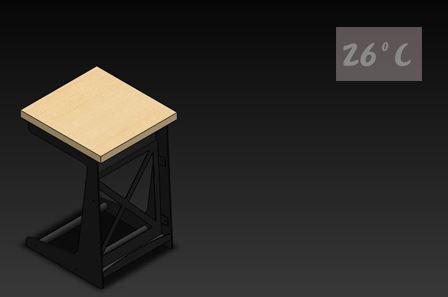 26度C LOFT工業風-書報桌02