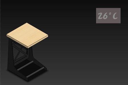 26度C LOFT工業風-書報桌01