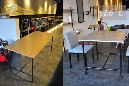 26度C LOFT工業風-餐廳桌