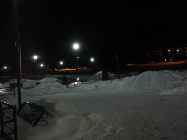 鏟過雪的路面