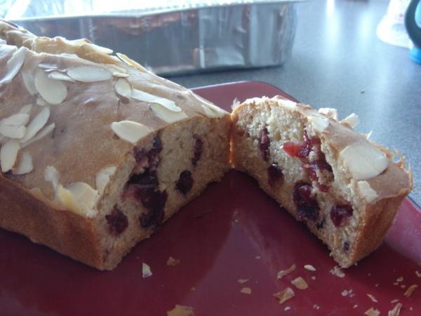 蔓越莓麵包之切開照