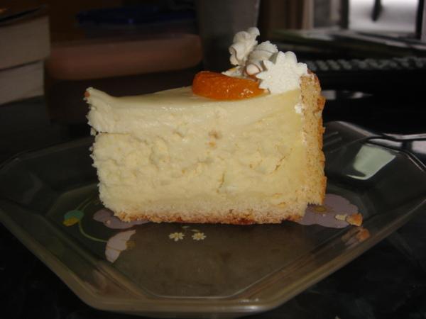 起士蛋糕剖面