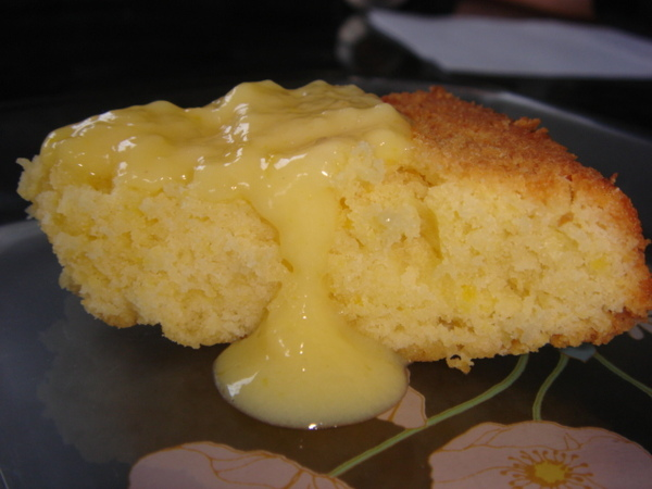 pound cake with custard cream