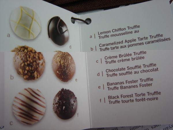 情人節巧克力 - 口味說明
