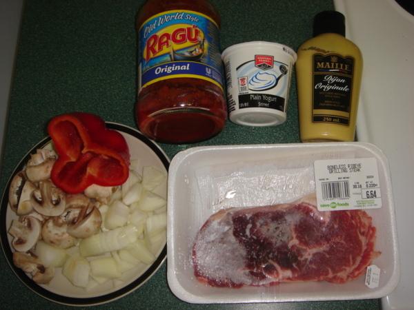 Beef Stroganoff - ingreidents