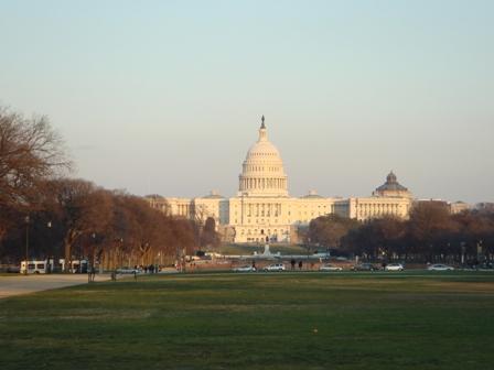夕陽下的國會山莊