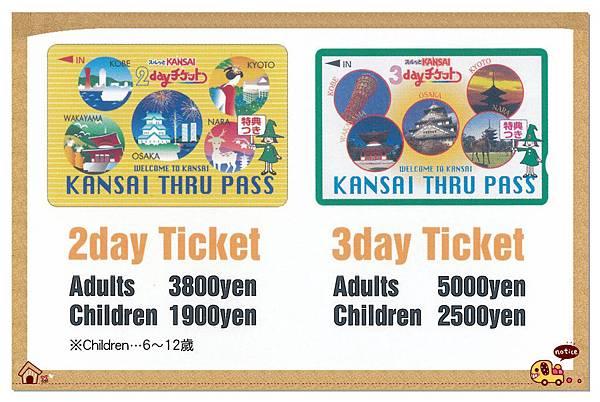Kansai THRU PASS Ticket
