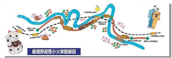 磋峨野小火車路線圖